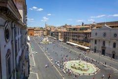 Vista aerea della piazza Navona fotografia stock libera da diritti