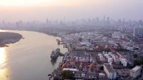 Vista aerea della porta di Bangkok video d archivio