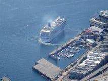 Vista aerea della porta di permesso della nave da crociera a Seattle Immagini Stock
