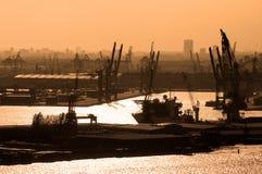 Vista aerea della porta di Rotterdam a Netherland Fotografia Stock