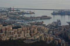 Vista aerea della porta Genova La Liguria L'Italia fotografia stock