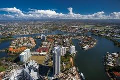 Vista aerea della retroterra del Gold Coast Fotografia Stock Libera da Diritti