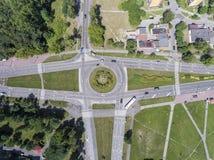 Vista aerea della rotonda, Polonia immagini stock libere da diritti