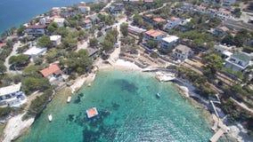 Vista aerea della spiaggia stock footage