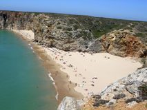 Vista aerea della spiaggia Immagine Stock