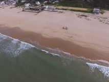 Vista aerea della spiaggia Fotografie Stock