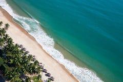 Vista aerea della spiaggia della città di Nha Trang Fotografia Stock Libera da Diritti