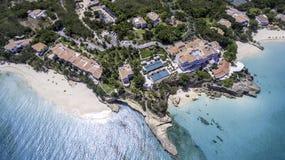 Vista aerea della spiaggia di Anguilla Fotografia Stock