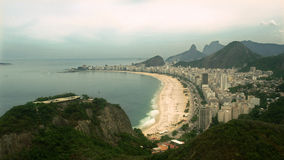 Vista aerea della spiaggia di Copacabana Fotografia Stock