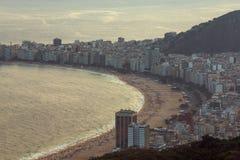 Vista aerea della spiaggia di Copacabana Immagini Stock Libere da Diritti