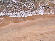 Vista aerea della spiaggia di Granelli, un posto della spiaggia in Sicilia immagini stock