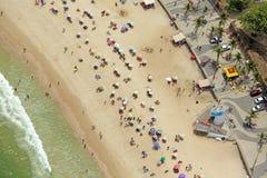 Vista aerea della spiaggia di Ipanema Fotografia Stock