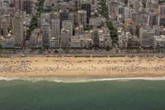 Vista aerea della spiaggia di Ipanema Immagini Stock