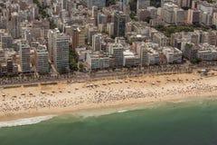 Vista aerea della spiaggia di Ipanema Fotografie Stock Libere da Diritti