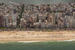 Vista aerea della spiaggia di Ipanema Fotografia Stock Libera da Diritti