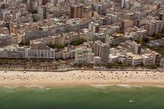 Vista aerea della spiaggia di Ipanema Fotografie Stock