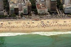 Vista aerea della spiaggia di Ipanema Immagine Stock