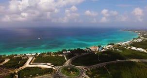 Vista aerea della spiaggia di Timelapse stock footage