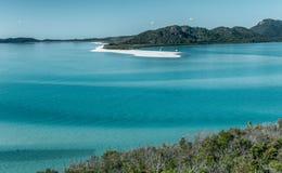 Vista aerea della spiaggia di Whitehaven, isole di Pentecoste immagine stock