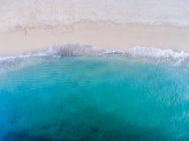 Vista aerea della spiaggia e dell'oceano Fotografia Stock Libera da Diritti