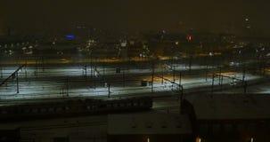 Vista aerea della stazione centrale di Copenhaghen anche conosciuta come Kobenhavns Hovedbanegard archivi video