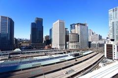 Vista aerea della stazione di Tokyo Fotografia Stock