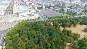 Vista aerea della strada dell'orizzonte di Berlino dal 17 giugno, Germania Fotografia Stock Libera da Diritti