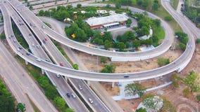 Vista aerea della strada delle strade principali archivi video