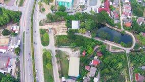 Vista aerea della strada delle strade principali stock footage