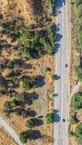 Vista aerea della strada di California fotografia stock
