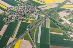 Vista aerea della strada principale fotografie stock libere da diritti