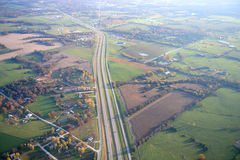 Vista aerea della strada principale 70 nel Missouri Immagine Stock