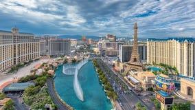 Vista aerea della striscia al giorno nuvoloso, Nevada di Las Vegas Fotografia Stock Libera da Diritti