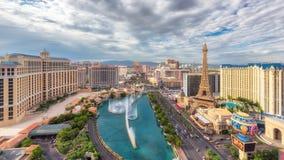 Vista aerea della striscia di Las Vegas fotografie stock