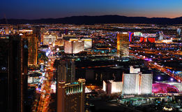 Vista aerea della striscia di Las Vegas Fotografia Stock