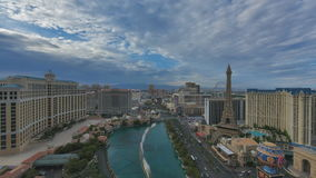 Vista aerea della striscia di Las Vegas, lasso di tempo stock footage