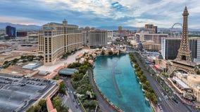 Vista aerea della striscia di Las Vegas, Nevada Fotografia Stock Libera da Diritti