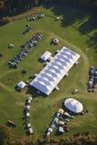 Vista aerea della tenda di evento nel Vermont. Fotografie Stock Libere da Diritti