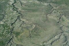 Vista aerea della terra Immagine Stock