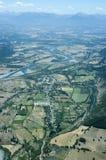 Vista aerea della valle Immagine Stock