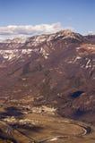 Vista aerea della valle di Adige - Italia immagine stock