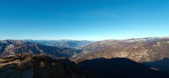 Vista aerea della valle di Adige - Italia Fotografia Stock