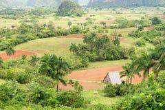 Vista aerea della valle di Vinales in Cuba Fotografie Stock Libere da Diritti