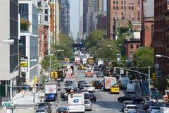 Vista aerea della via del distretto di Chelsea e di imballaggio della carne a New York Immagine Stock