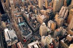 Vista aerea della via di New York City Fotografie Stock Libere da Diritti