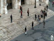 Vista aerea della via di Parigi stock footage