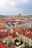 Vista aerea della vicinanza del quadrato di Città Vecchia a Praga Fotografie Stock