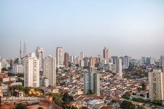 Vista aerea della vicinanza di Perdizes e di Sumare a Sao Paulo - Sao Paulo, Brasile Immagine Stock Libera da Diritti