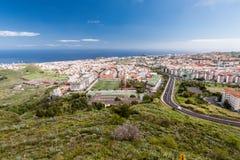Vista aerea della zona residenziale di Santa Cruz de Tenerife sulle isole Canarie di Tenerife spain Fotografie Stock Libere da Diritti
