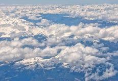 Vista aerea delle alpi Immagini Stock